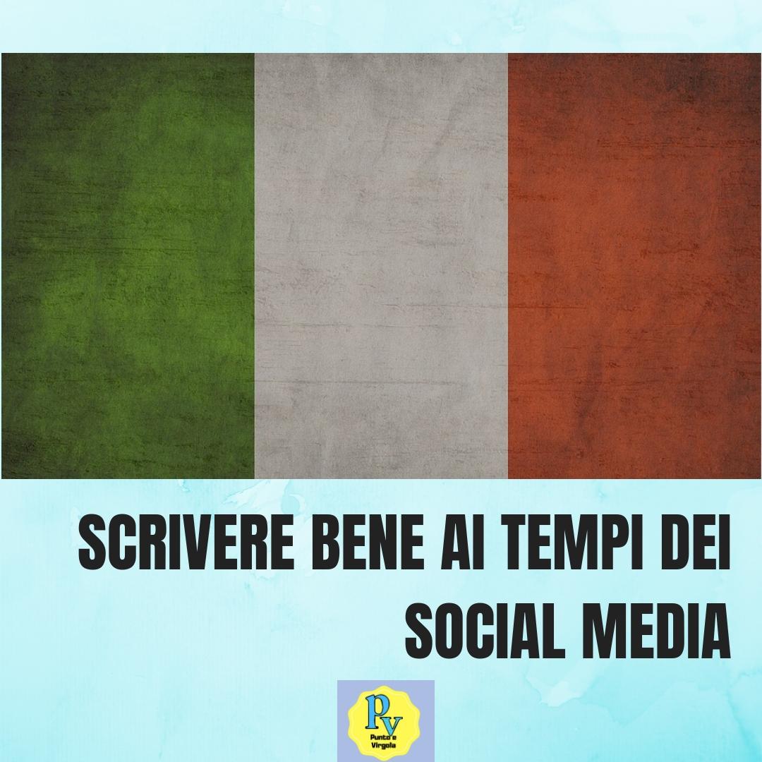 scrivere bene social media italiano